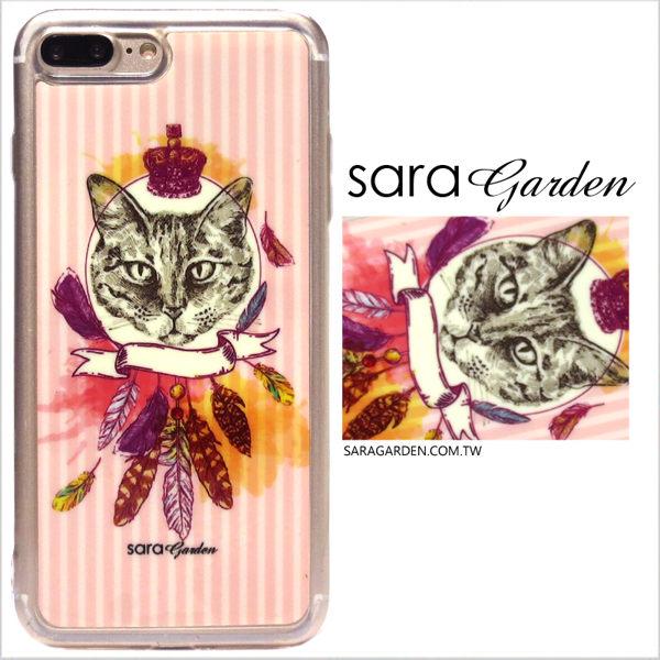 【Sara Garden】客製化 軟殼 蘋果 iPhone 6plus 6SPlus i6+ i6s+ 手機殼 保護套 全包邊 掛繩孔 貓咪皇冠捕夢網