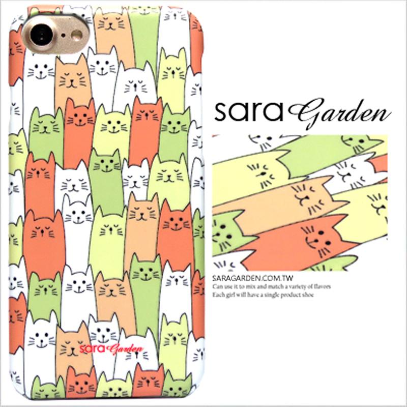 【Sara Garden】客製化 手機殼 SONY XA2 手繪 貓咪 排排坐 保護殼 硬殼