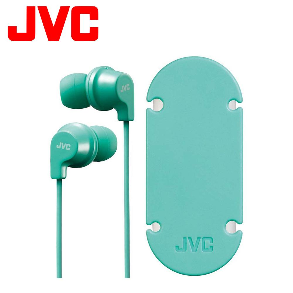 JVC 吸盤式捲線器入耳式耳機麥克風 HA-FR21 - 蒂芬妮綠