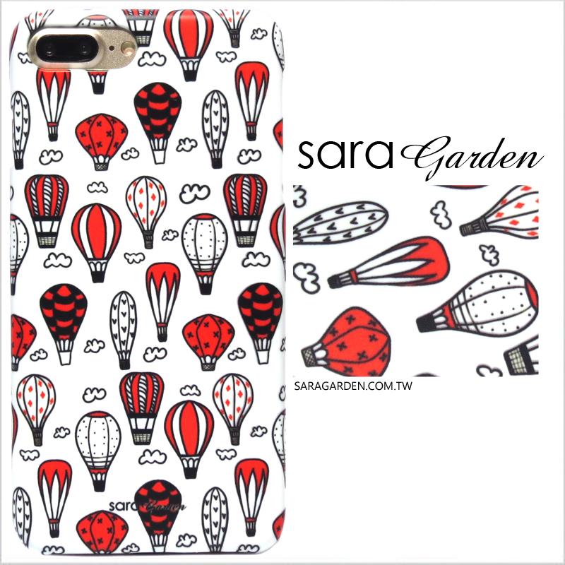 【Sara Garden】客製化 手機殼 Samsung 三星 A8 2018 A5 2018 紅色熱氣球 手工 保護殼 硬殼