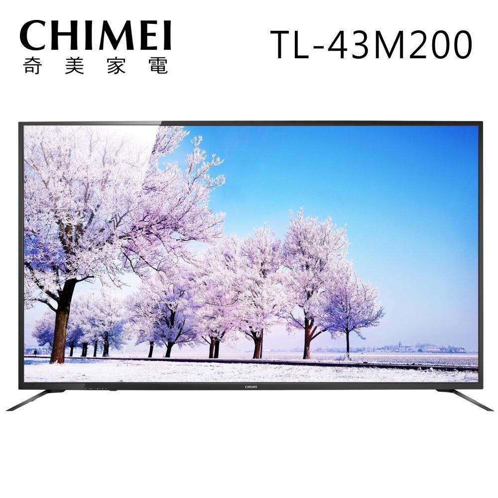 CHIMEI奇美 43吋4K HDR低藍光聯網液晶顯示器+視訊盒(TL-43M200)
