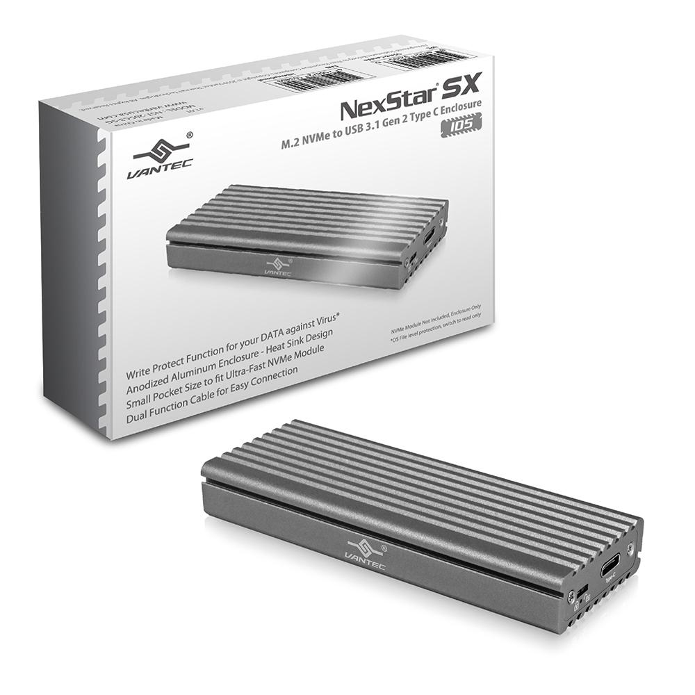 熱銷!! VANTEC凡達克 NexStar SX M.2 NVMe SSD to USB 3.1 Gen 2 Type C 外接盒