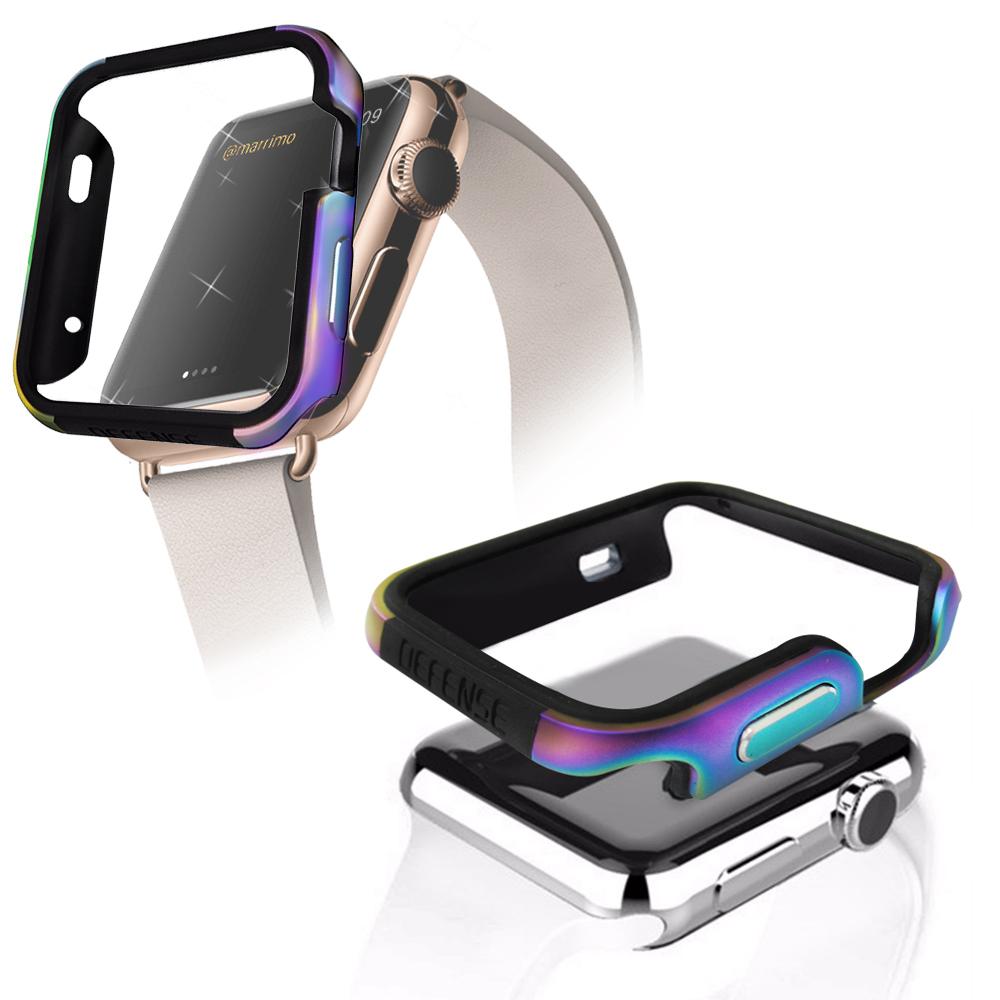 刀鋒Edge系列 Apple Watch 38mm 鋁合金雙料保護殼 保護邊框(霓光銀河)