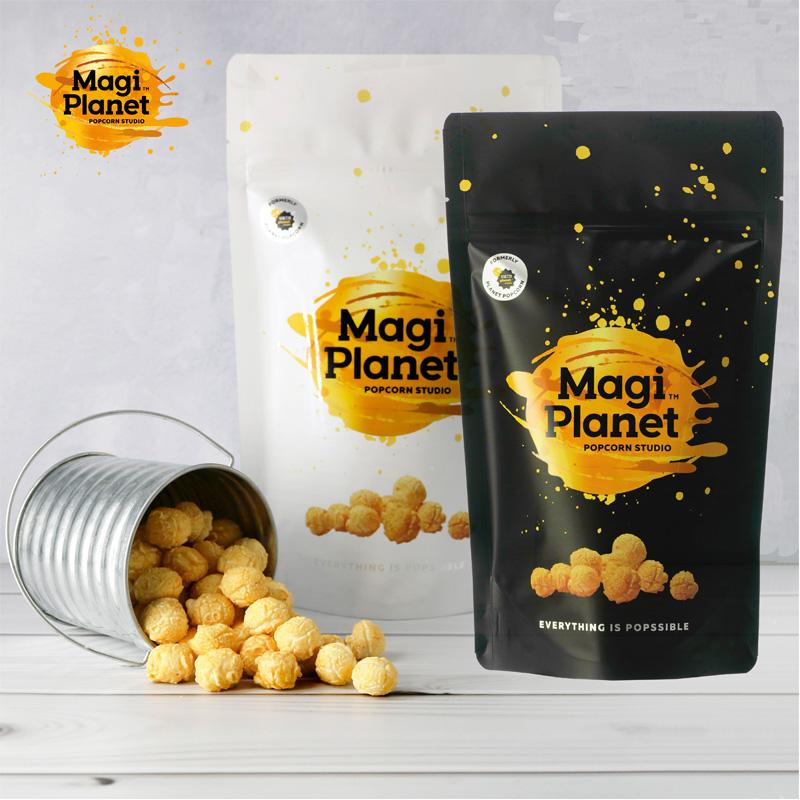 【Magi Planet星球工坊爆米花】※香港爆紅鹹蛋黃※ - 鹹蛋黃*2 + 玫瑰鹽焦糖*2 (共4入)