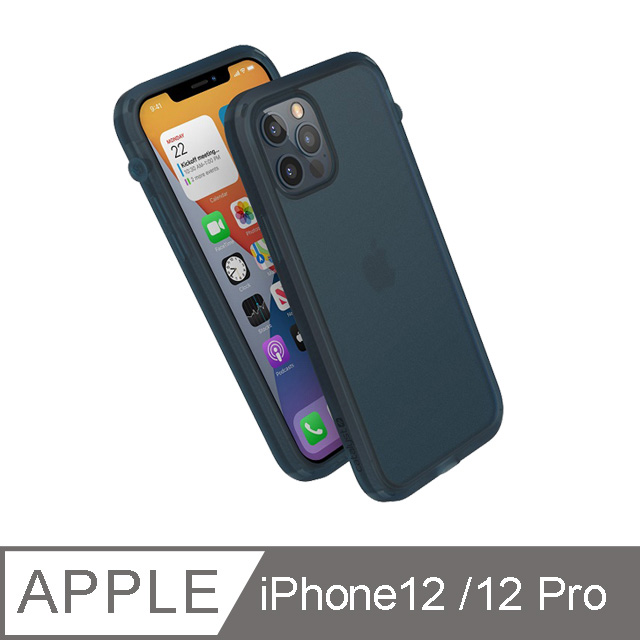 CATALYST iPhone12 /12 Pro (6.1吋) 防摔耐衝擊保護殼●霧藍