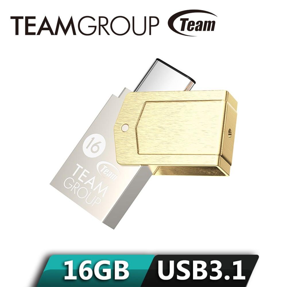 Team十銓 Type C金碟 USB 3.1高速OTG隨身碟 16GB