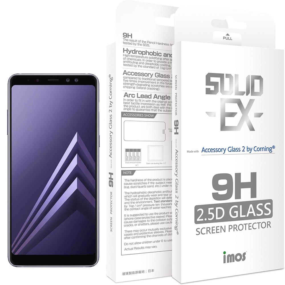 iMOS Samsung Galaxy A8 Plus(2018) 2.5D 滿版玻璃 螢幕保護貼