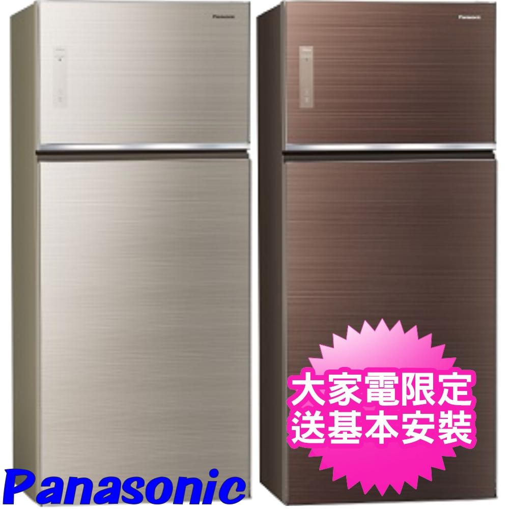 【Panasonic國際牌】579公升玻璃雙門變頻冰箱 翡翠棕 NR-B589TG-T