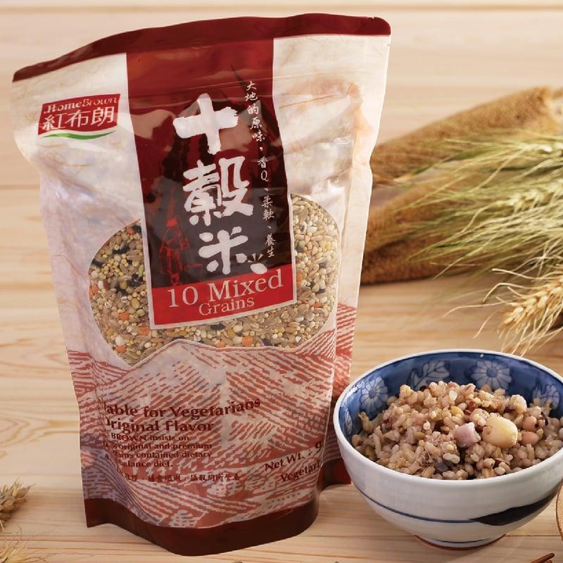 【紅布朗】 十穀米 900gX4袋