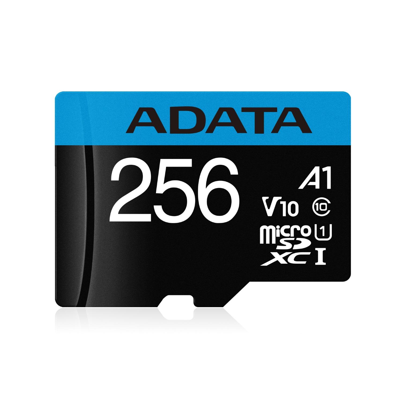 記憶卡ADATA microSDXC 256GB UHS-I A1 100MB/s 附轉卡