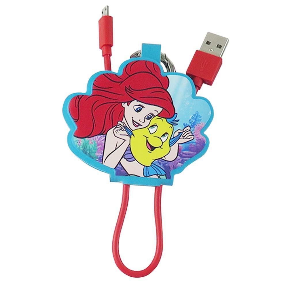 Disney迪士尼 小美人魚 Micro USB 皮革傳輸線/充電線