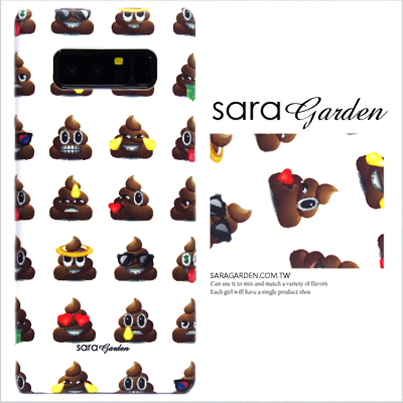 【Sara Garden】客製化 手機殼 OPPO R15 可愛便便Emoji 保護殼 硬殼
