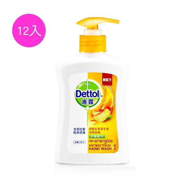 滴露Dettol 抗菌潔手液清新柑橘250mlx12入 (效期:2019.12)
