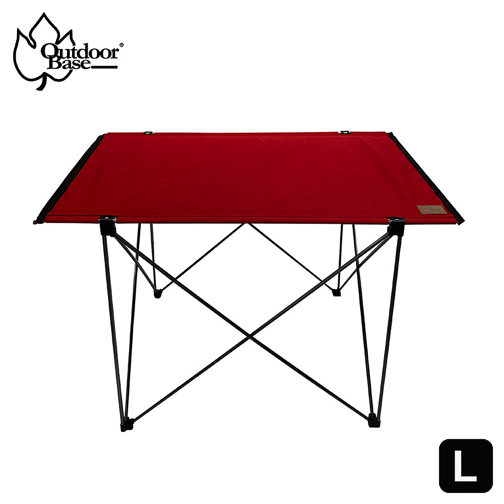【Outdoorbase】極輕量7075航太級納米鋁合金輕量桌(迷你拼接桌 露營桌 單人桌 蛋捲桌-夕陽紅