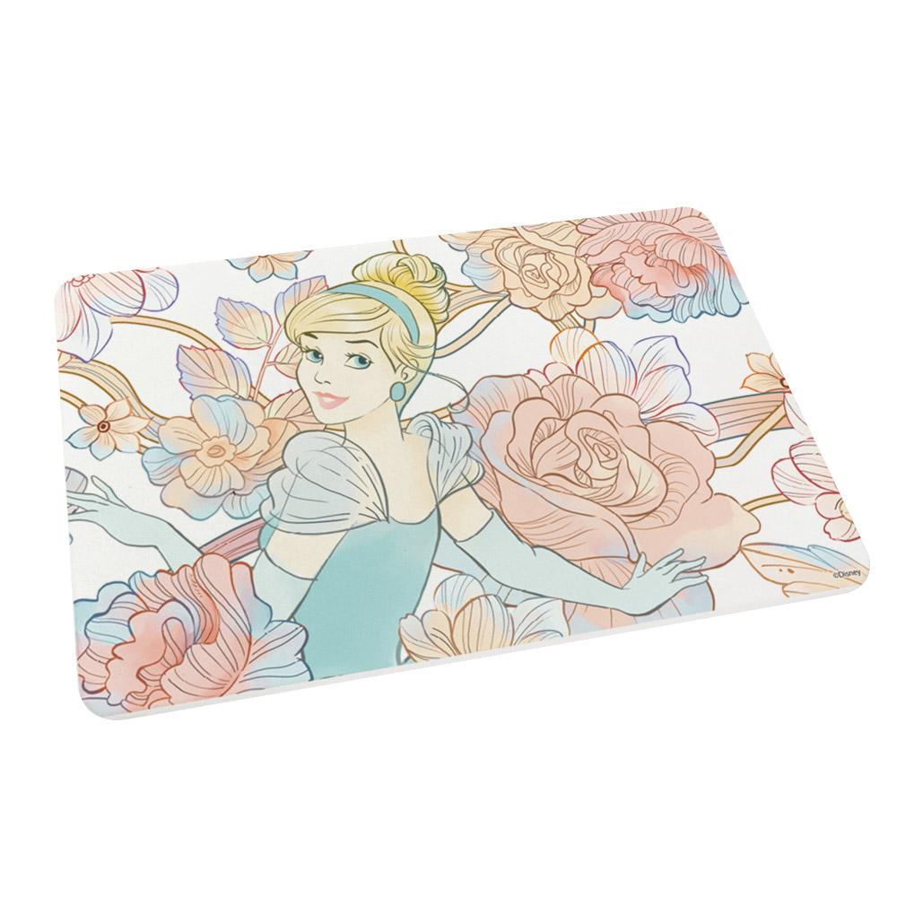 【收納王妃】迪士尼公主系列珪藻土吸水地墊-花朵仙杜瑞拉
