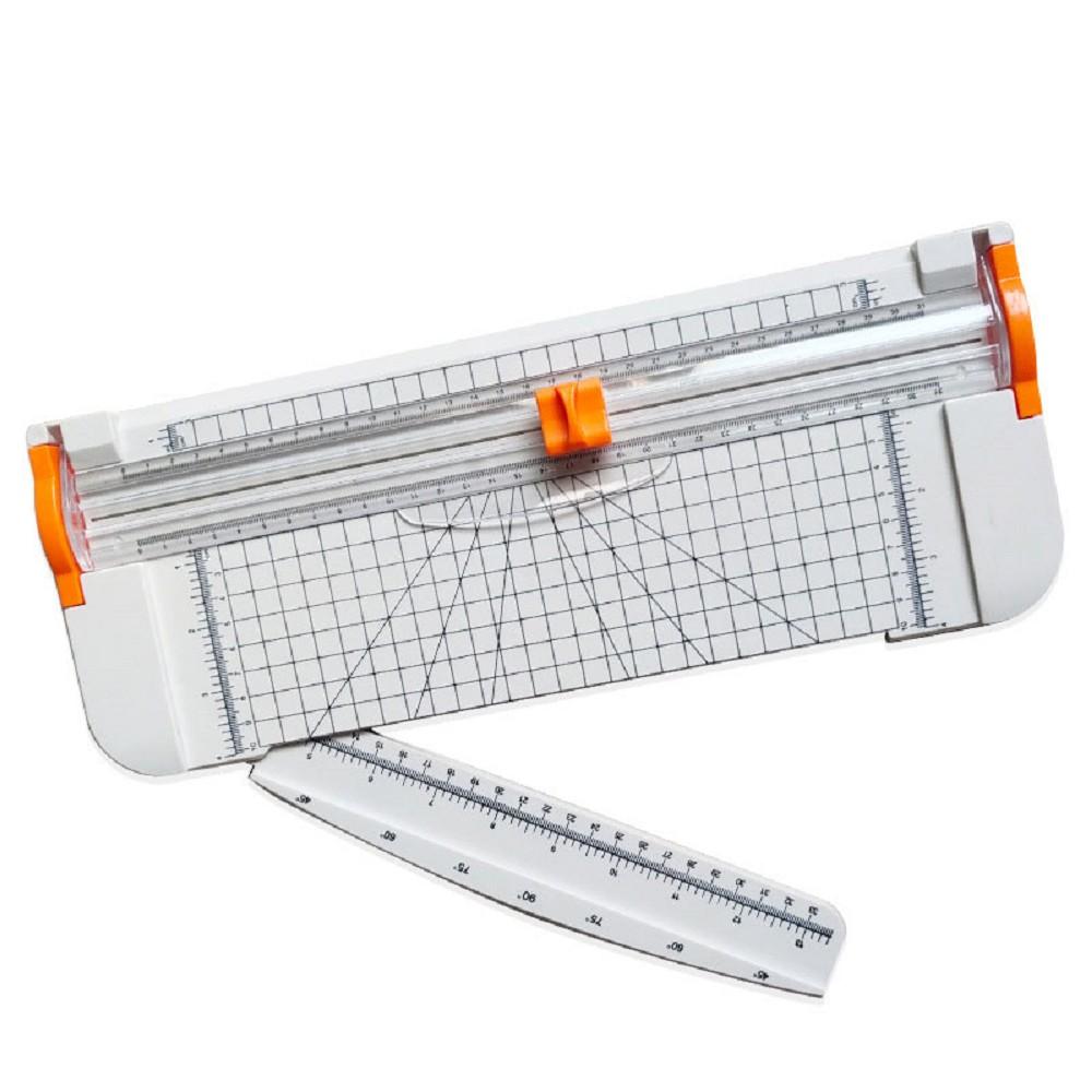 FJ 安全不刮手A4滑動式裁紙器 加碼贈2組裁刀頭 白色