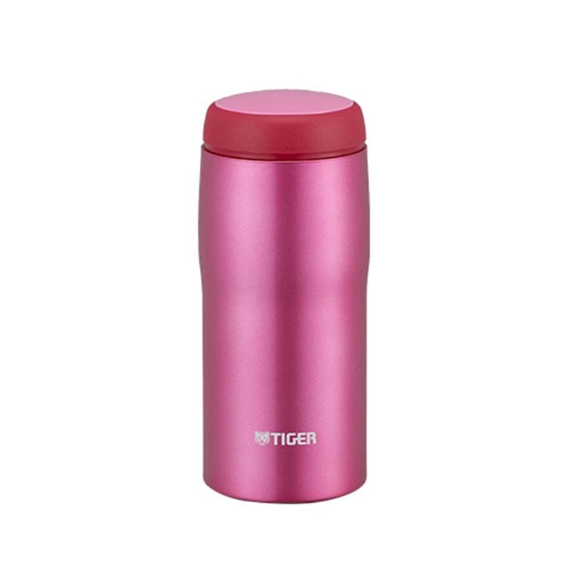 TIGER虎牌 240cc不鏽鋼保溫保冷瓶(MJA-B024亮粉)