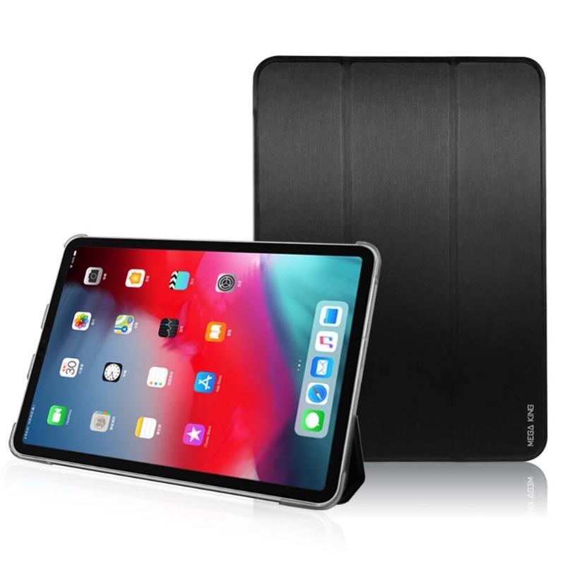 MEGA KING 三折側掀皮套 Apple iPad Pro 11 (2018)黑