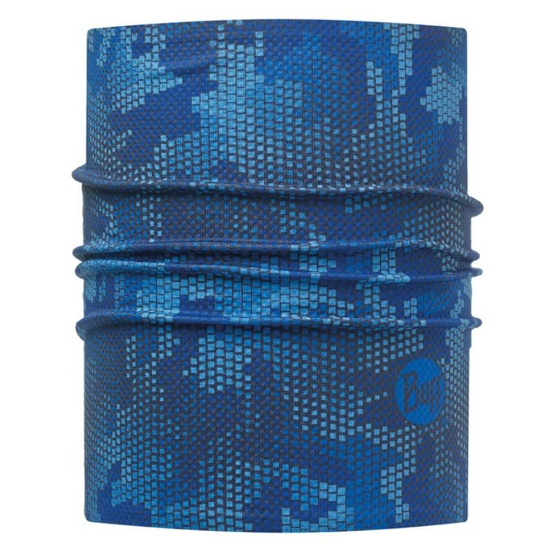 【西班牙 BUFF】藍色方塊 銀離子抗菌快乾頭盔巾