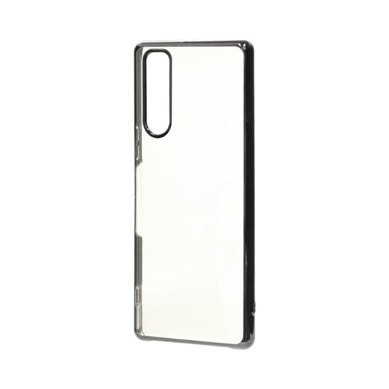 SONY Xperia 5 電鍍邊框透殼 黑色
