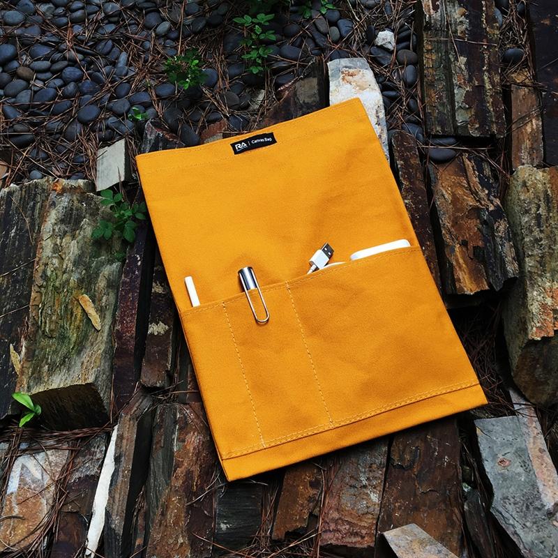 【RA】Canvas bag 磁吸帆布平板電腦保護袋-月桃紅for iPad Pro12.9吋,Macbook Air13.3吋,MacBook Pro13吋
