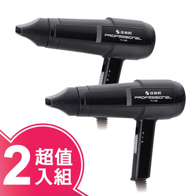 【達新】專業吹風機(超值二入組)黑色 TS-1288