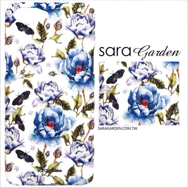【Sara Garden】客製化 手機殼 Samsung 三星 S10e 保護殼 硬殼 淡藍玫瑰碎花