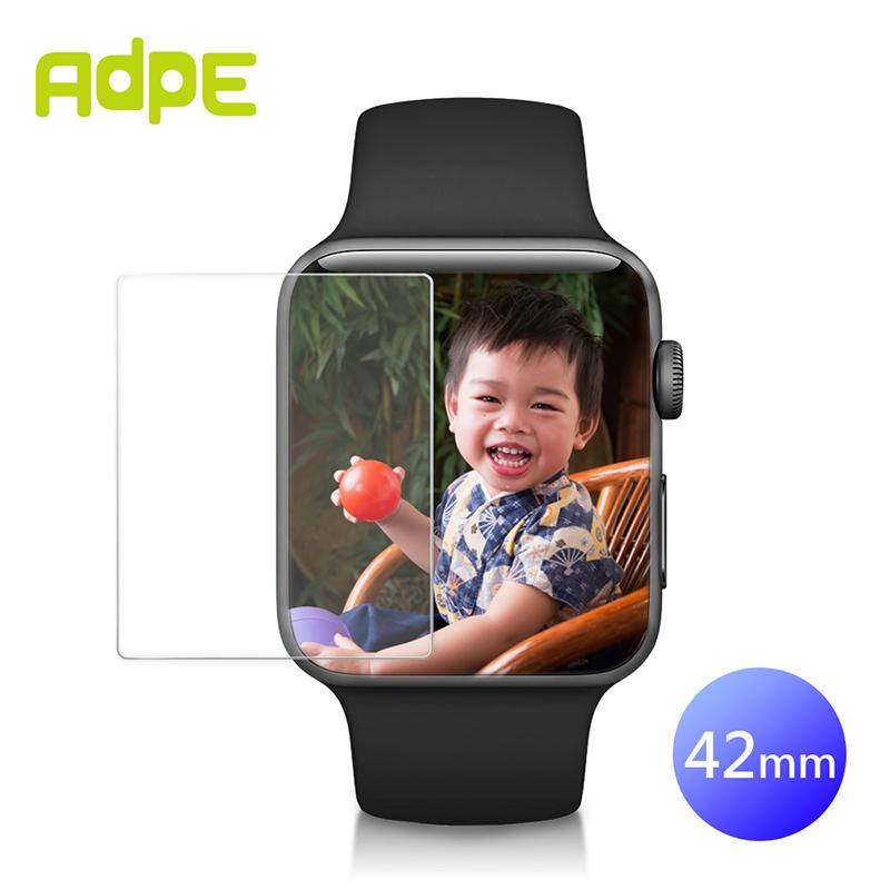 【2入組】AdpE APPLE Watch 42mm 9H鋼化玻璃保護貼