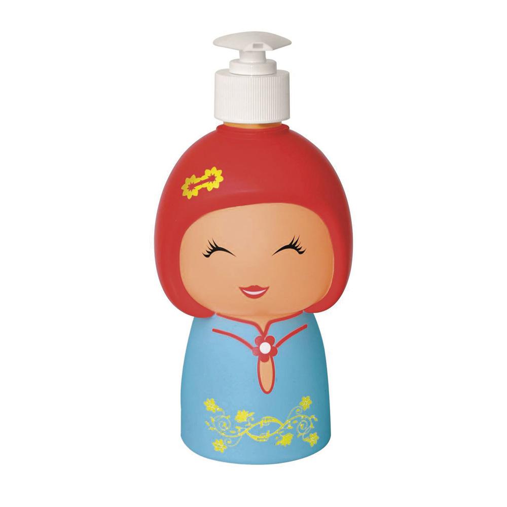 e-my 娃娃造型擠皂器-藍衣娃娃