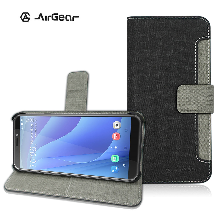 AirGear 側掀皮套 HTC Desire 12s黑
