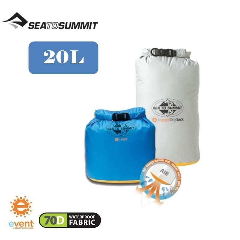 【Sea To Summit】20公升(淺灰)70D eVent輕量防水透氣收納袋