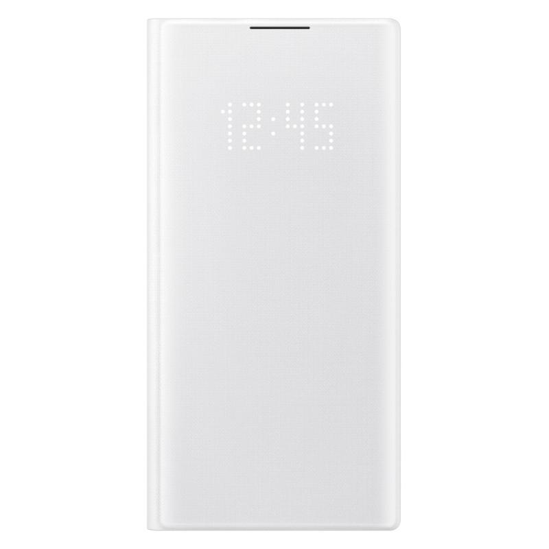 SAMSUNG Galaxy Note10 LED皮革翻頁式皮套 白