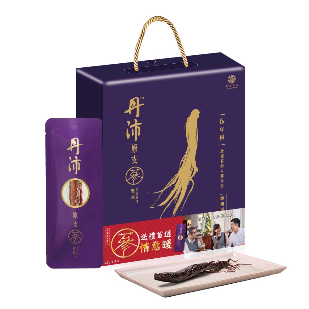 【丹沛】六年根-原支蔘蜜果禮盒(3入/30g)