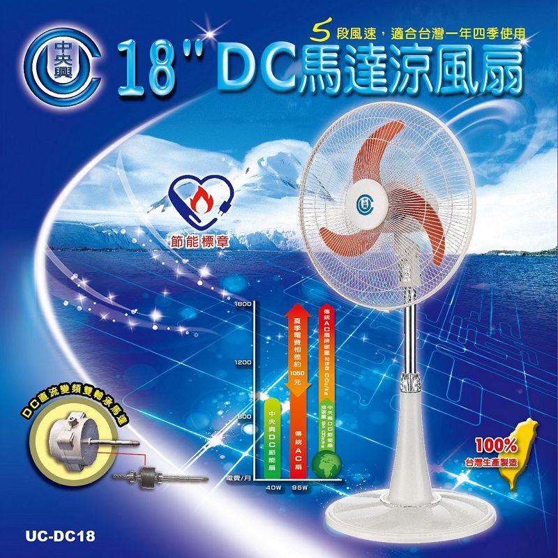 中央興 18吋DC馬達涼風扇 UC-DC18
