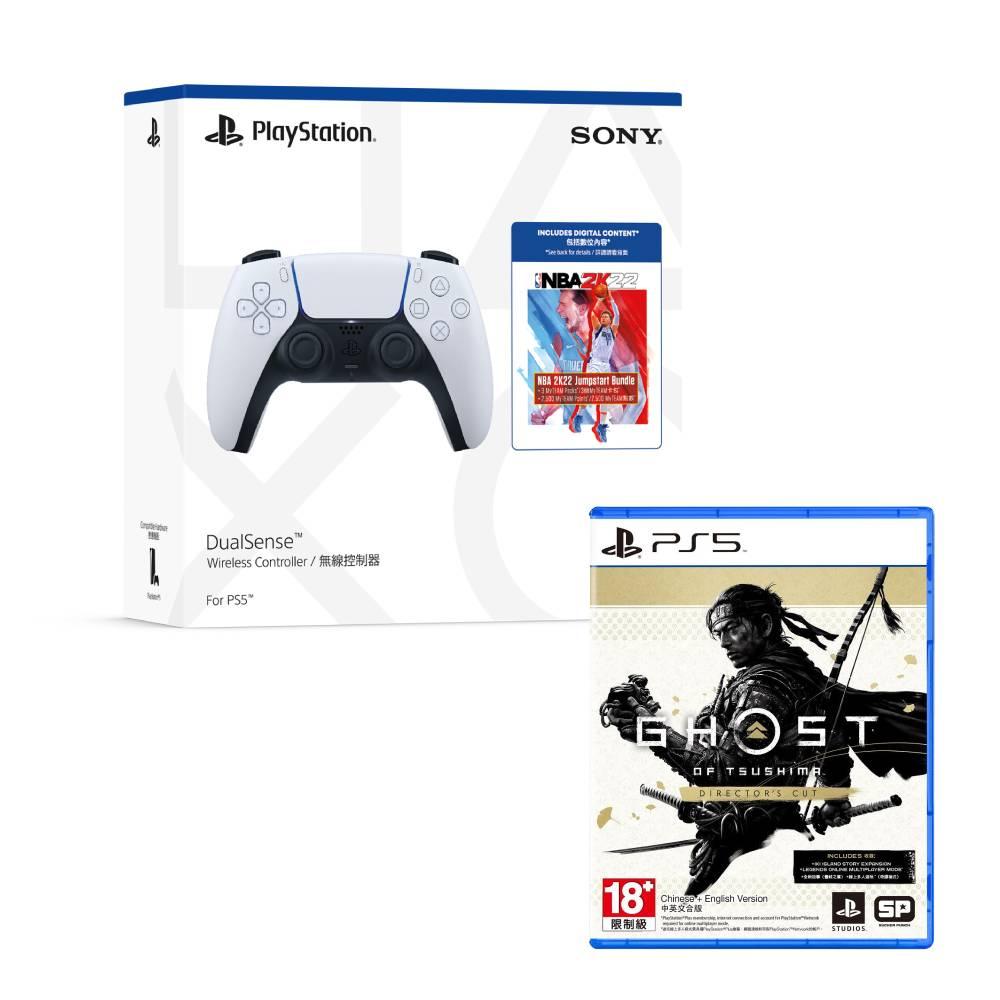SONY PS5 DualSense 無線控制器NBA 2K22 Jumpstart同捆包+PS5 對馬戰鬼 中文導演剪輯版