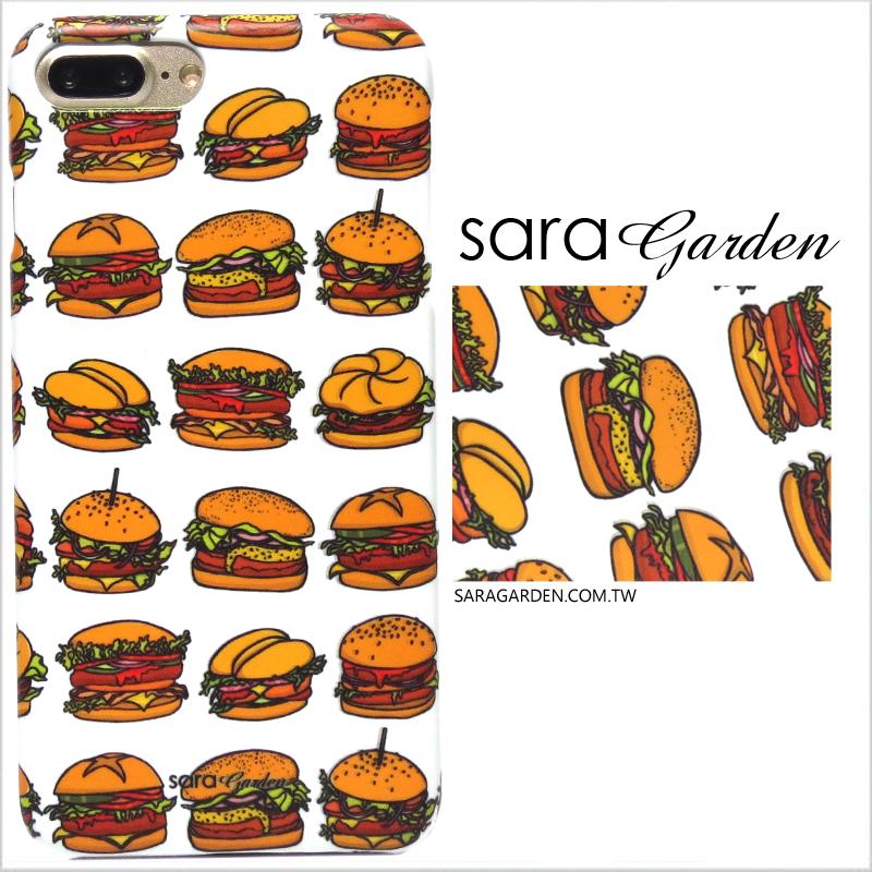 【Sara Garden】客製化 手機殼 蘋果 iPhone7 iphone8 i7 i8 4.7吋 手繪漢堡 手工 保護殼 硬殼