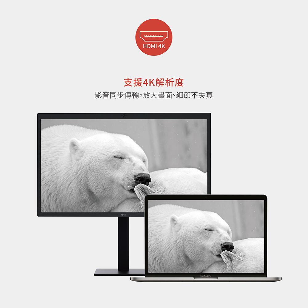 【Soodatek】Type-C TO HDMI 2USB Hub/SCDHU-ALPDSI 4K多功能鋁合金轉接器