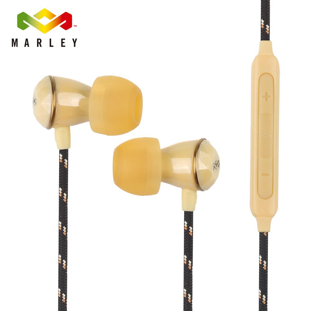Marley Nesta-3BM 3鍵式入耳式耳機麥克風-淺金黃(EM-FE033-GD)