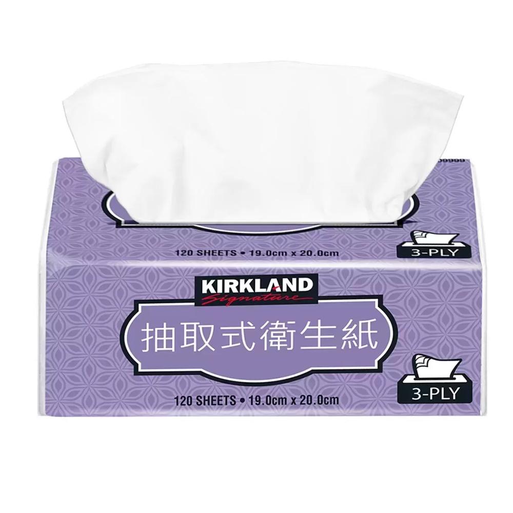 【Kirkland Signature 科克蘭】三層抽取衛生紙 120張x10包