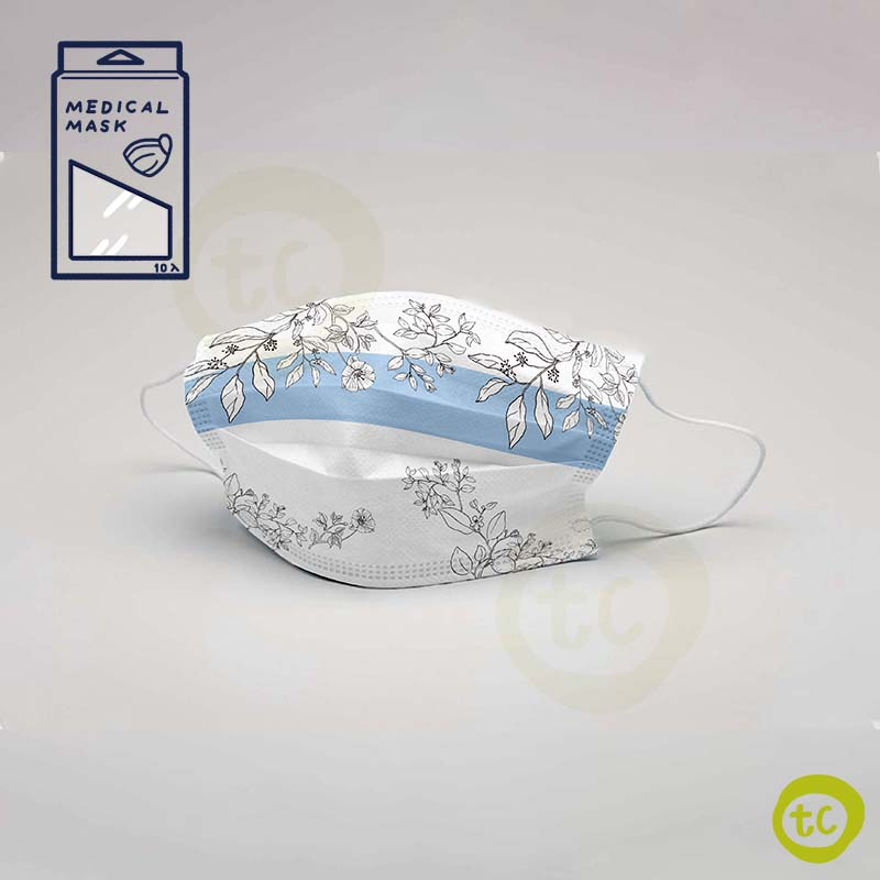 【台衛】雙鋼印口罩 花草款 (10入/盒)