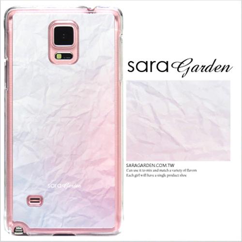 客製化 原創 Samsung 三星 Note4 手機殼 透明 硬殼 皺褶雲彩