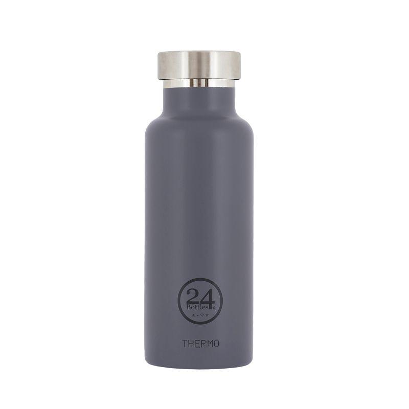 義大利 24Bottles 雙層保溫瓶 500ml - 典雅灰