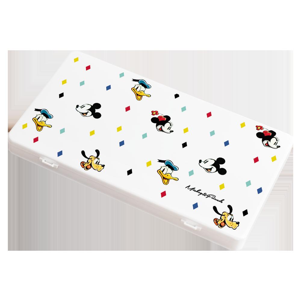 【收納王妃】迪士尼 (菱形米奇)-米奇米妮系列防疫必備口罩盒/零錢盒/收納盒/文具盒