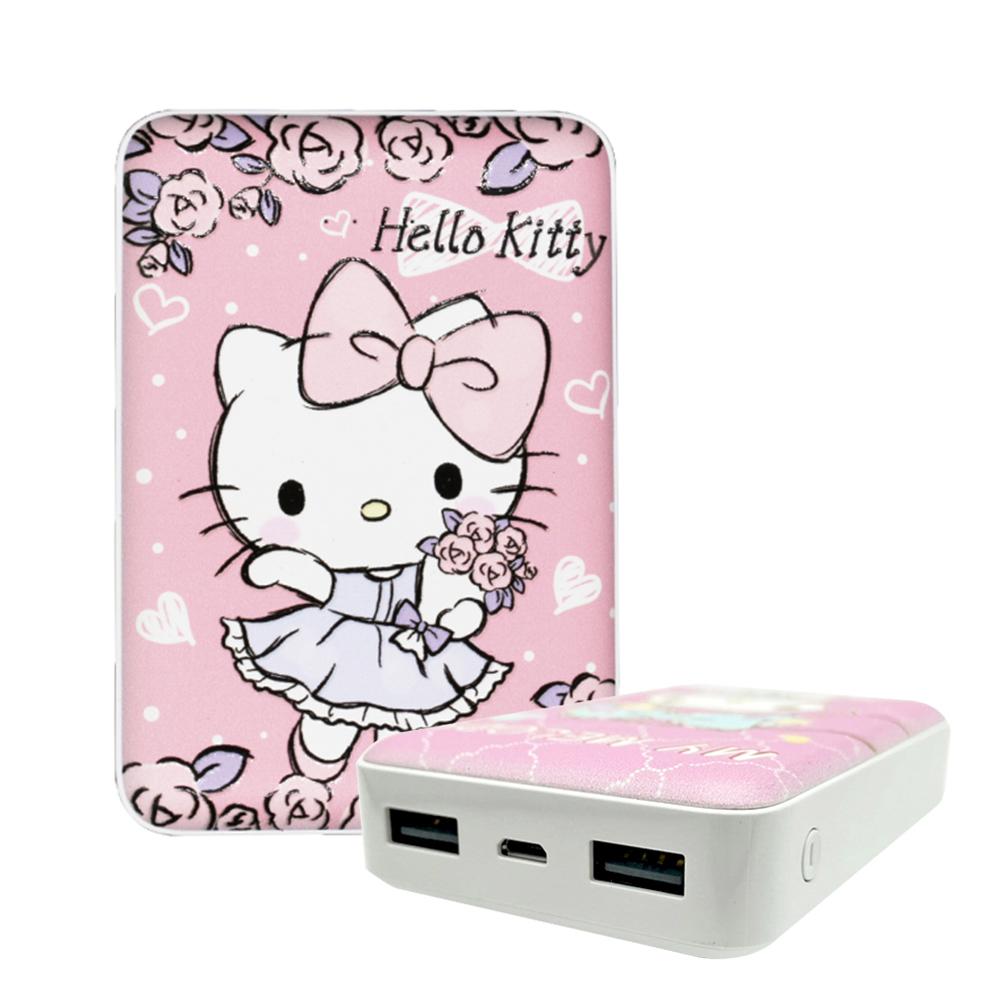 【正版授權】Sanrio三麗鷗 10000series 雙輸出行動電源-KITTY玫瑰花束