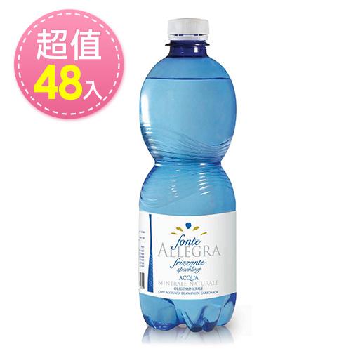 【義大利進口】亞莉佳微氣泡礦泉水-500mlx48瓶