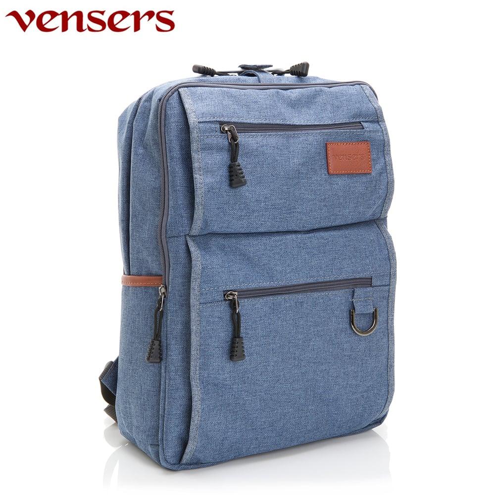 【vensers】簡約丹寧牛仔後背包(R00066103牛仔藍)