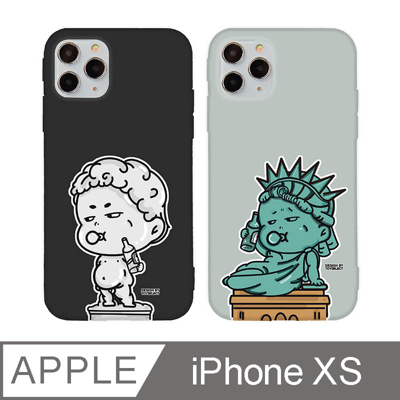iPhone X/Xs 5.8吋 崩壞藝術家iPhone手機殼 大衛雕像 宙黑色