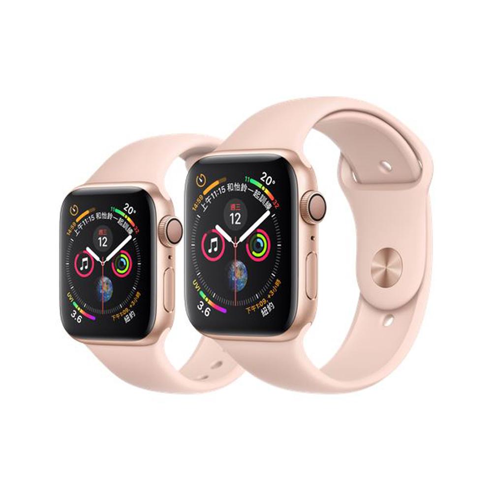 Apple Watch Series4 GPS版 金色鋁金屬錶殼搭配粉沙色運動型錶帶 44mm (MU6F2TA/A)