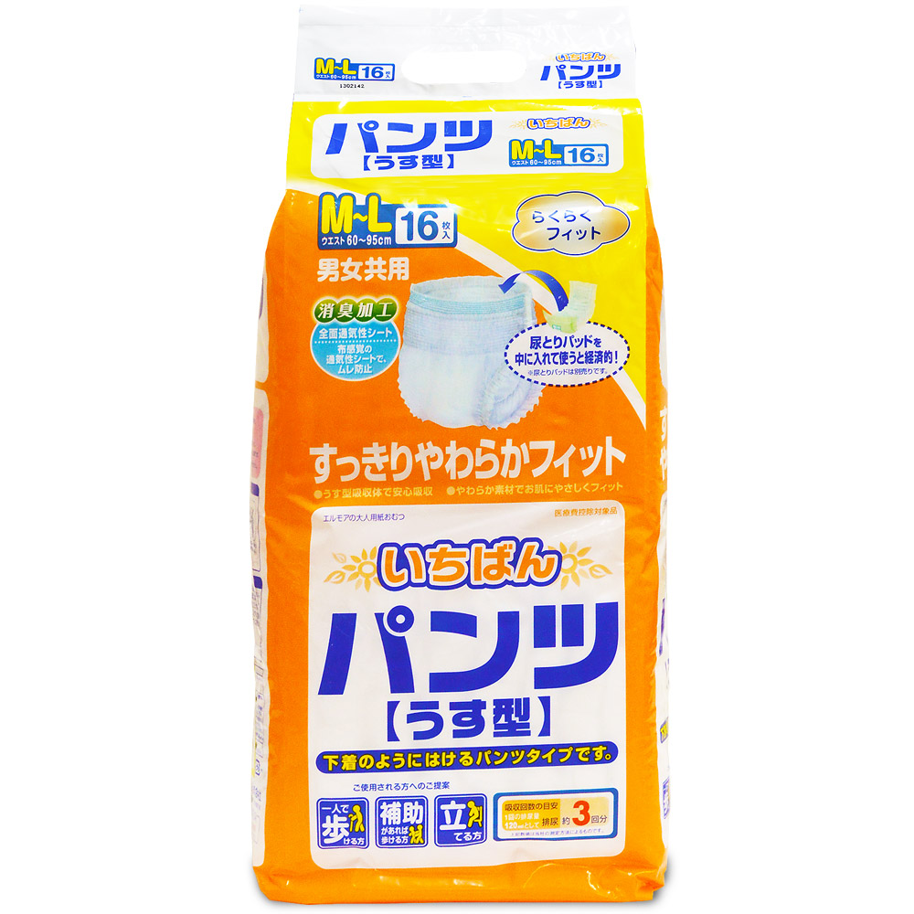 日本一番 成人活力褲 M~L(16片x4包/箱,共64片)