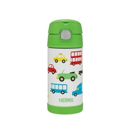 THERMOS膳魔師0.4L不鏽鋼真空保冷瓶保溫瓶F4018/F4018VC-GR(旋風車篇)